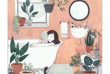 Reading & Bathroom / Чтение в ванной