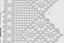 cortinas, cenefas crochet