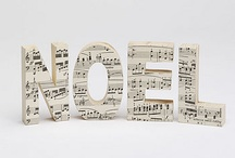 Paper mache letters musicmusic party