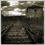 abandoned train,  gas & bus  stations, diners etc / old related bldgs. to trains, bus and gas  old diners are interesting / by Hilda Flanagan
