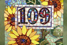 Letras e n. de mosaicos