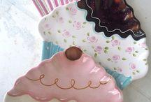 Seramik cupcake tabak modeli