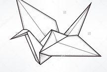 Origami-kraniche tattoo