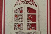 Window die cards