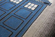 TARDIS Blanket Inspiration / My honey has ordered one for our 20th anniversary... collecting ideas early :)  / by Amy Folz