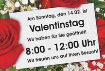 Valentinstag 2016 / Morgen, Sonntag, den 14.02.2016 - am Valentinstag - sind wir von 8:00 - 12:00 Uhr für Sie da!  Wir freuen uns auf Ihren Besuch!