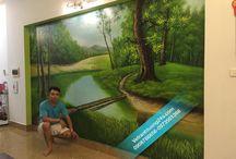 Tranh tường 3d thiên nhiên phong cảnh
