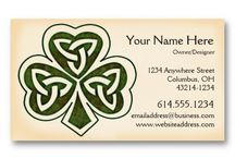 Business Cards : Celtic Irish / most of these are my designs - some are from others - click on the image and then click on the bigger image to see product details and pricing