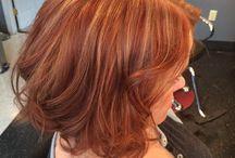 Hiukset Red Braun