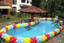 decoracao na piscina