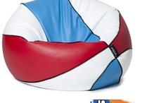 Puffs deportivos / Ponte cómodo mientras disfrutas viendo tu deporte favorito. #tenis #futbol #basket #baloncesto #deporte #puff