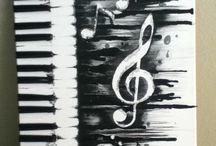 Malen/Zeichen schwarz-weiß
