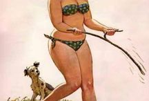 Hilda / Hilda is VIVACIOUS & VITAL. She is ZOFTIC Joy personified. She brings me happiness and HOPE. I wanna be HILDA! I adore HILDA. The Hilda Gallery By Duane Bryers, painted between 1958 and 1969. The only known ample sized icon in pin-up history.