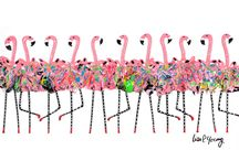 Flippin' Flamingos / A brand new collaboration with fellow South Florida artist Lisa P. Young.