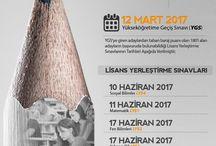 2017 ÖSYM Sınav Takvimi Açıklanmıştır.