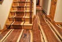 wood floor and stairs