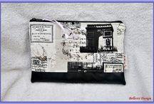 Neszesszerek, pénztárcák - Cosmetic bags, purses (My works) / # handmade #design #spring  #cosmetic #bag #accessories #kézműves #egyedi #tavasz #neszesszer #táska #kiegészítő  www.facebook.com/bellestidesign  www.bellestidesign.meska.hu