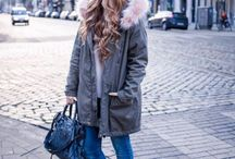 Sneakers and parka