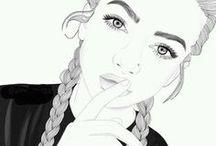 fond écran noir et blanc
