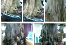 Our Happy Customers' Hair / These are testimonial images of our work and the happy customers.
