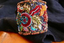 embroidered jewelery