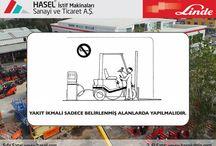 Yakıt Doldurma İle İlgili Kurallar / Dizel Forklift ve Elektrikli Forklift Operatörlerinin Dikkat Etmesi Gereken Genel Güvenlik Kuralları. Önce İş Güvenliği!