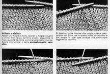 diminuzioni / aumenti /vivagni/a maglia