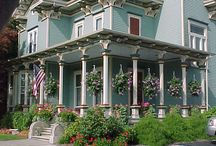 Porch Porn / I love the idea of porches (and sometimes decks) but my dream home will be an old victorian with wrap around porch. Here are some ideas to up it up a notch.  / by Damian P