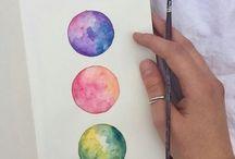 Watercolor art tech