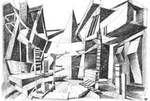 Freehand Architectural Drawing / Drawings of Marek Tryzybowicz - Design Director and CoFounder of Bose International Planning and Architecture