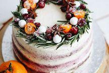 Новогодние торты и капкейки