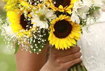 bukiet ślubny słoneczniki / bridal bouquet of sunflowers / bukiety ślubne ze słonecznikiem w roli głównej