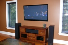 Decorating The Listening / Watching Room / Unique decor ideas for home theater and music rooms.