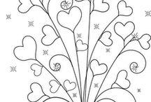 Szívek, virágok, mandalák