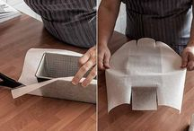 Cake mold with paper