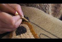 rug hooking / by Pam Loving