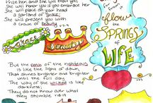 Bible journaling ideas / Collection of bible journaling ideas and tips #bible #journal
