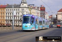 Prag - Straßenbahn Škoda 14T / Sie sehen hier eine Auswahl meiner Fotos, mehr davon finden Sie auf meiner Internetseite www.europa-fotografiert.de.