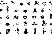 Valentine Day Silhouette Vector / Looking to add romantic silhouette for your valentines day design project? Then we have a huge collection of valentine day silhouette vector illustration.
