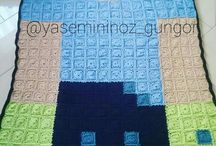 blanket ,örgü,tigisi / minecraft blanket