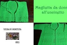 maglietta da donna all'uncinetto / foto e video-tutorial