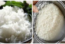 Cooking rice with coconut oil