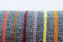 Striped knitting