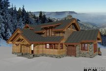 2109 sq. ft. Apex / This is the 2109 sq. ft. Apex 3D floor plan rendering. It is our Plan of the Week. Visit http://www.rcmcaddesign.com/ for more information. #loghomedesign #loghomes