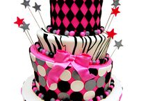 Zebra Print Cakes / Animal print cakes, especially zebra print, are a popular trend for sweet 16, birthdays and baby showers.  Zebra print can also be combined with other prints including cheetah and leopard to add even more flair! / by Pink Cake Box