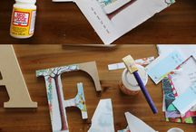 Letters / Creating letters for presents using cardboard letters and paper