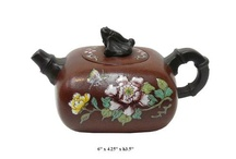 Teapot and tray / http://stores.ebay.com/Golden-Lotus-Antiques-And-Furniture  Golden Lotus Antiques 2049 S. El Camino Real, San Mateo, CA 94403 tel: 650-522-9888 goldenlotusinc@yahoo.com