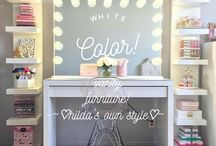 makeup furniture and decorations / suggestions for your makeup  display
