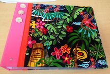 Hawaiian Fabric Scrapbook Albums / New at Island Paperie, Custom Hawaiian Fabric Albums!!  Select your album, fabric and embellishments and have one tailored to your taste!!   Also available are a great selection of fabric pieces ready for DIY Album Projects.