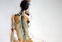 Groquis ja mallit / Groquis-piirustus ja alastonmaalaus ym. Ihmismallit